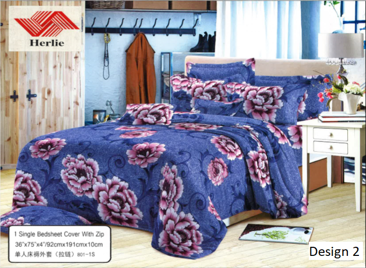 Herlie Single Bed Sheet Cover With Zip 36 X 75 X 4 92cm X